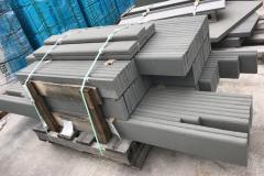 Bluestone Blue /Gray Thermal Half Bullnose Base Molding