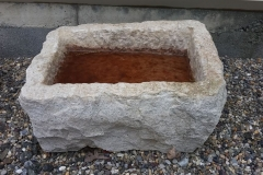 ANTIQUE GRANITE WATERING TROUGH 12x18x3-inch-deep
