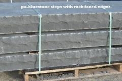 BLUESTONE ROCK FACED STEPS