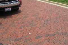 Antique Clay Pavers Intalled