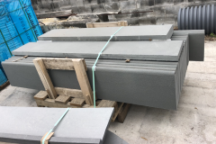 Bluestone Blue /Gray Thermal Bullnose Steps