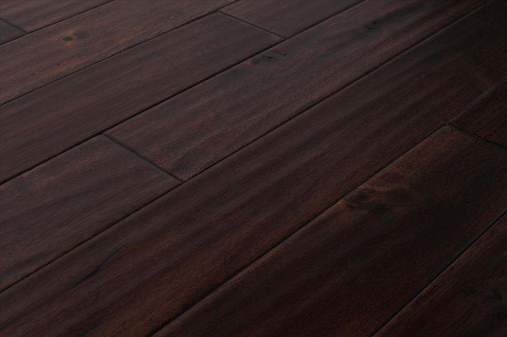 Handscraped Acacia Dark Brown
