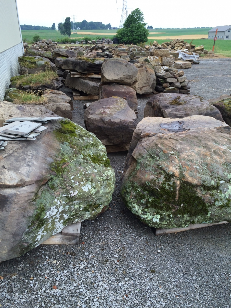 Moss & Lichen Covered Weathered LANDSCAPE BOULDERS