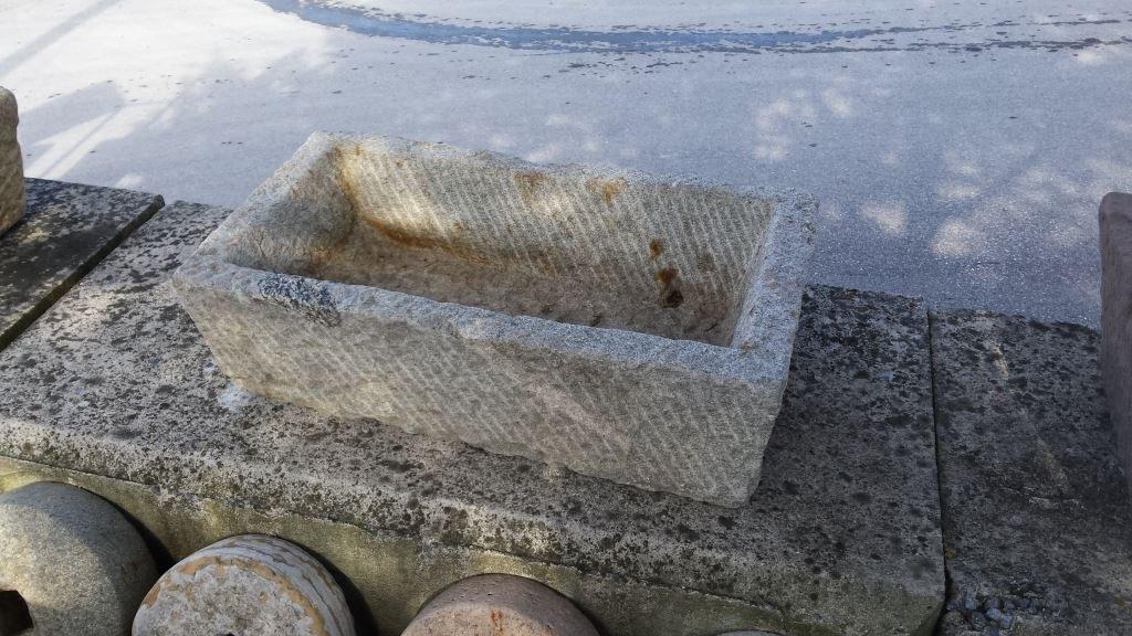 ANTIQUE GRANITE WATERING TROUGH