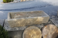 ANTIQUE GRANITE WATERING TROUGH 20-x-47-x-11
