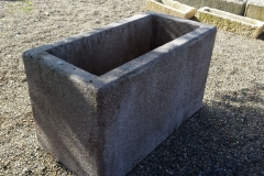 ANTIQUE GRANITE WATERING TROUGH 24-x-47-x-26