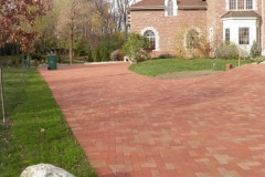 Red Flashed New Clay Paver Installed