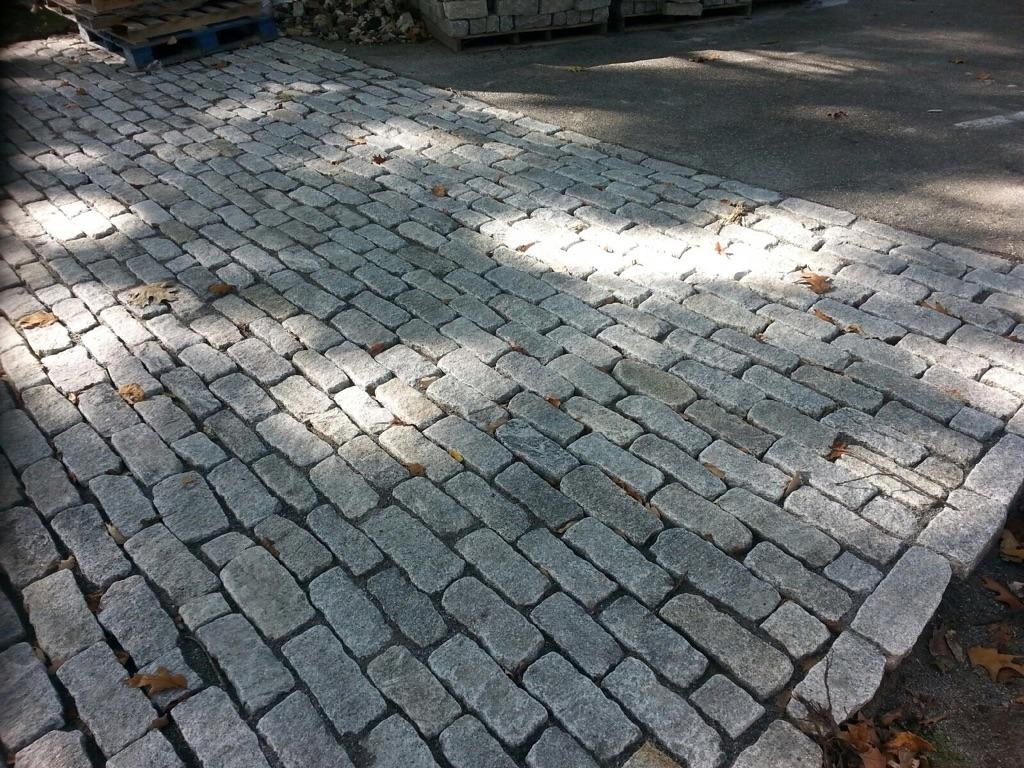 Gray Granite Half Jumbos Installed