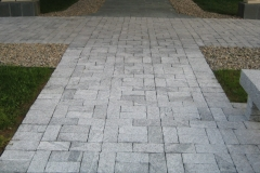 "GRAY Granite Bush Hammered Paver 6x12x3""+/-"