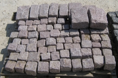 ROSE Granite Cobbles Cubes Regulars & Jumbos