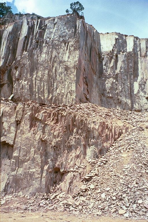 BRONZE SUMMIT Porphyry Strata at the Quarry