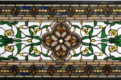 "TIFFANY STYLE WINDOW 5~~45.5""W X 10.5""H Versaille Transom Stained Glass Window"