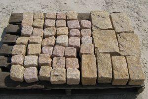 YELLOW Granite Cobble Cubes Regulars & Jumbos