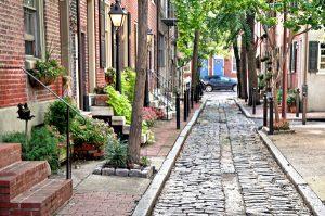 Philadelphia Cobblestone-Belgian Block alley